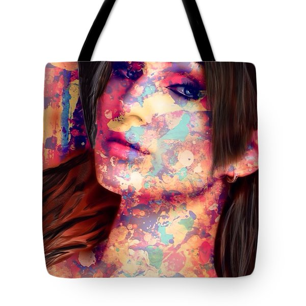 Tote Bag featuring the painting Painted Lady by Mark Taylor