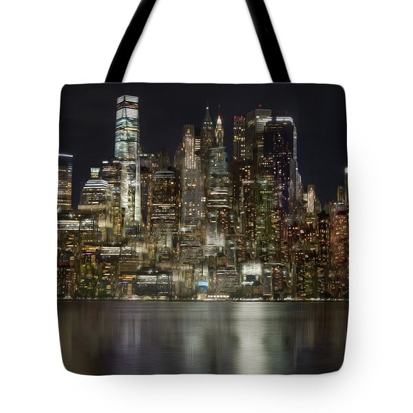 Painted Lights Tote Bag