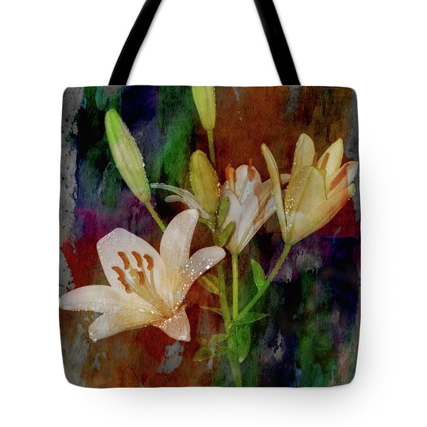 Painted Lilies Tote Bag