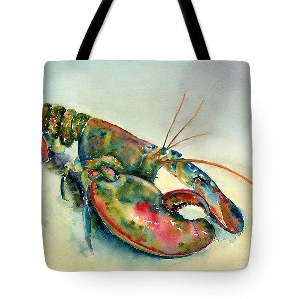 Painted Lobster Tote Bag