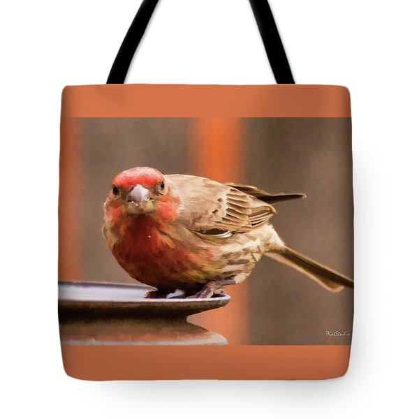 Painted Male Finch Tote Bag