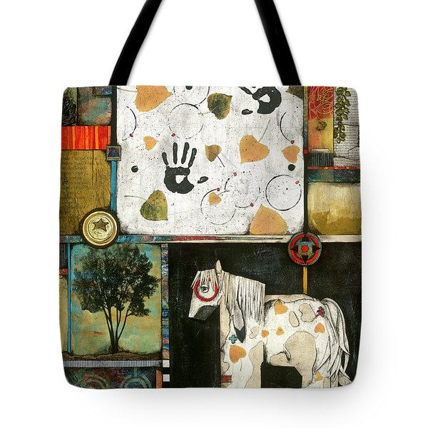 Painted Mare, Cottonwood, War Pony  Tote Bag