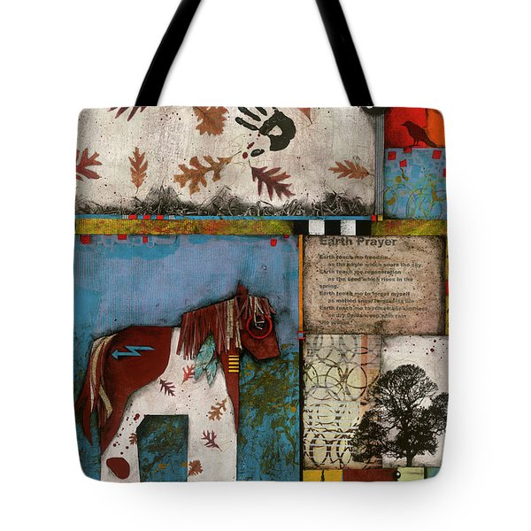 Painted Mare, Oak, War Pony  Tote Bag