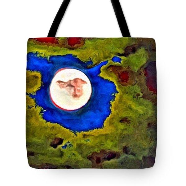 Painted Moon Tote Bag
