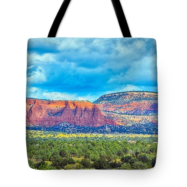 Painted New Mexico Tote Bag