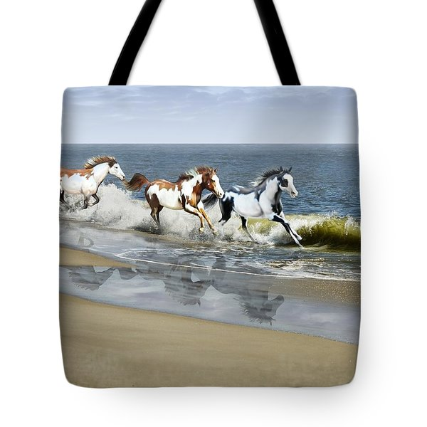 Painted Ocean Tote Bag by Barbara Hymer
