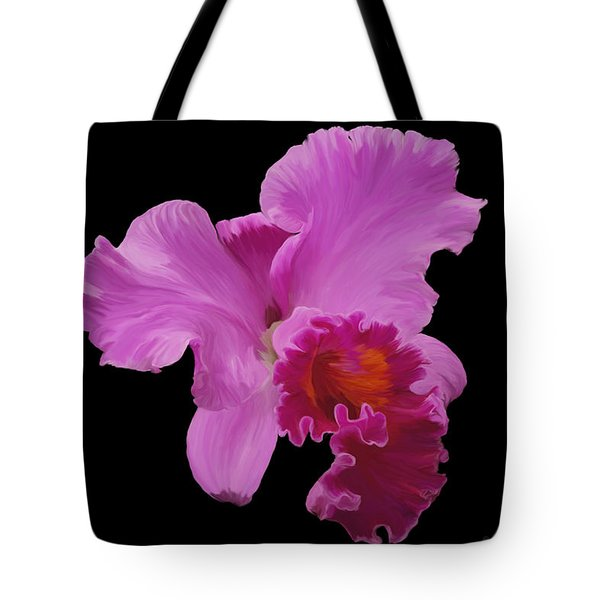 Tote Bag featuring the photograph Painted Orchid by Phyllis Denton