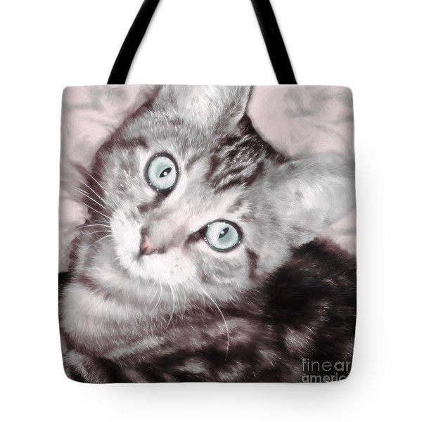 Pastel Bengal Kitten Tote Bag