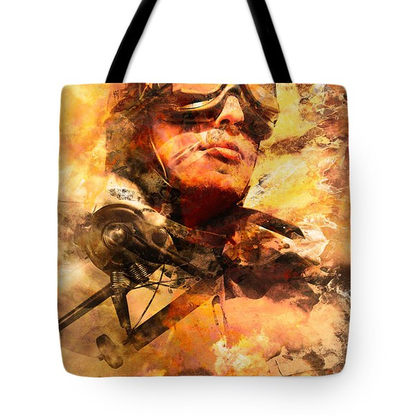 Tote Bag featuring the photograph Painted Pilots At War by Jorgo Photography - Wall Art Gallery