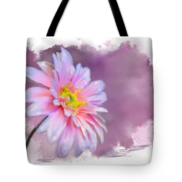 Painted Pink Beauty Tote Bag by Mary Timman