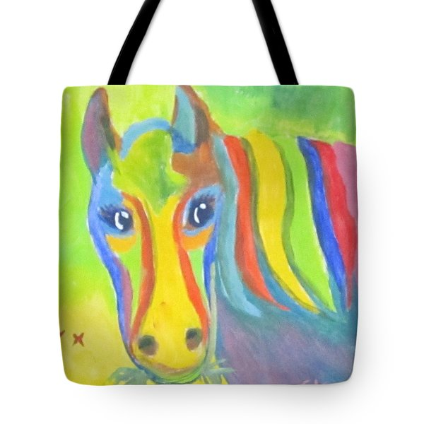 Painted Pony Tote Bag by Cathy Long