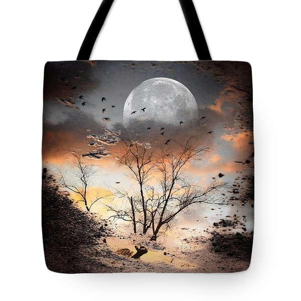 Painted Puddle Tote Bag