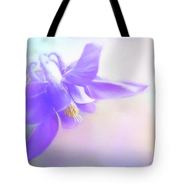 Painted Purple Columbine Tote Bag