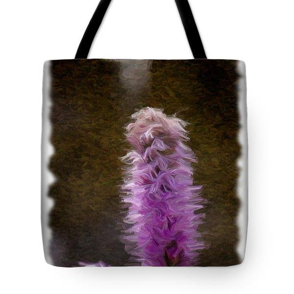 Painted Purple Flower Tote Bag