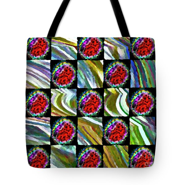 Painted Quilt Tote Bag by Gwyn Newcombe