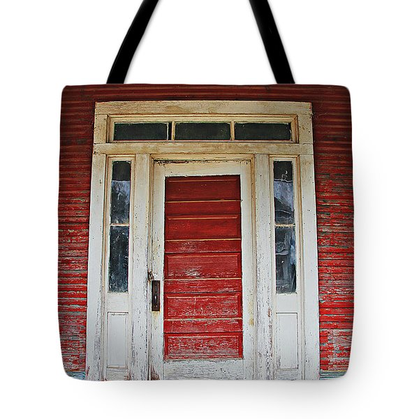 Painted Red Tote Bag