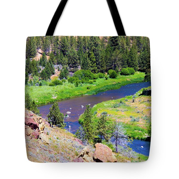 Tote Bag featuring the photograph Painted River by Jonny D