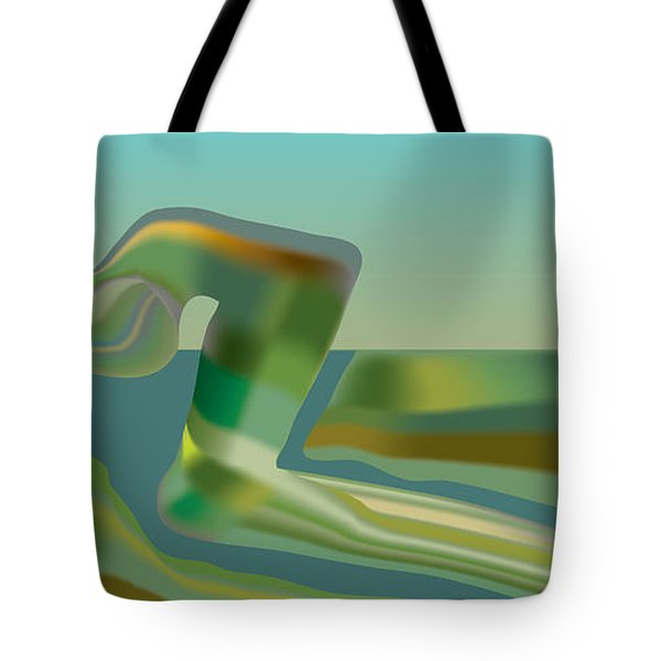 Painted Riverland Tote Bag