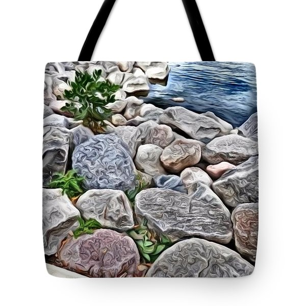 Painted Rocks Tote Bag
