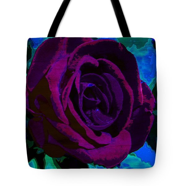 Painted Rose Tote Bag by Samantha Thome
