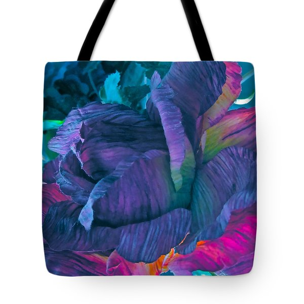 Painted Silk Tote Bag by Gwyn Newcombe