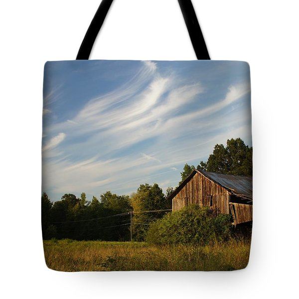Painted Sky Barn Tote Bag