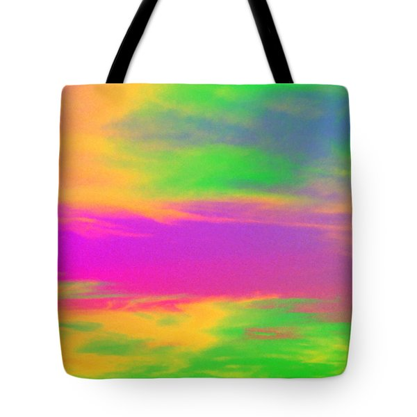 Painted Sky - Abstract Tote Bag by Linda Hollis