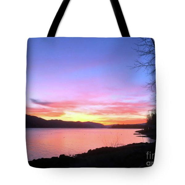 Painted Sky Tote Bag by Victor K
