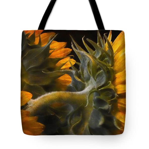 Tote Bag featuring the photograph Painted Sun Flowers by John Rivera