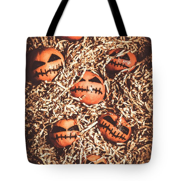 painted tangerines for Halloween Tote Bag