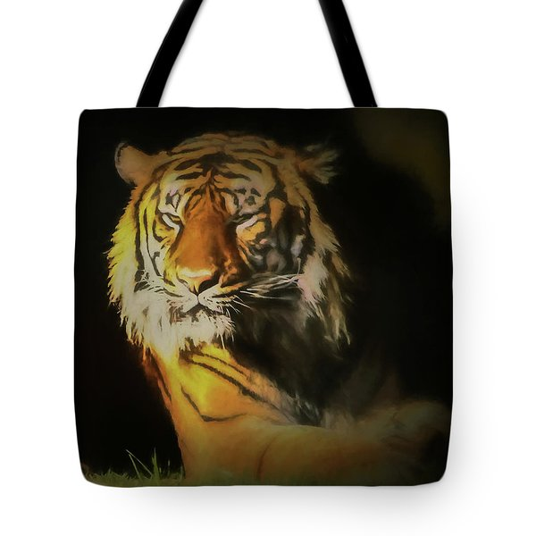Painted Tiger Tote Bag