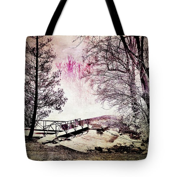 Tote Bag featuring the photograph Painted Trees by Judy Wolinsky