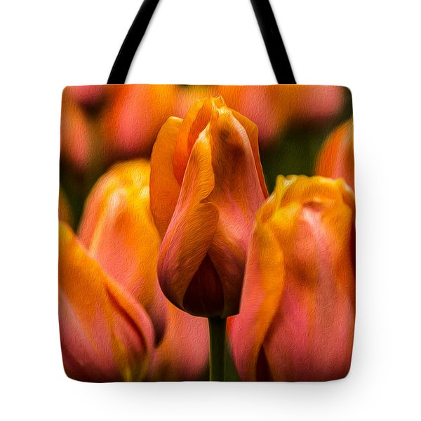 Painted Tulips 2 Tote Bag