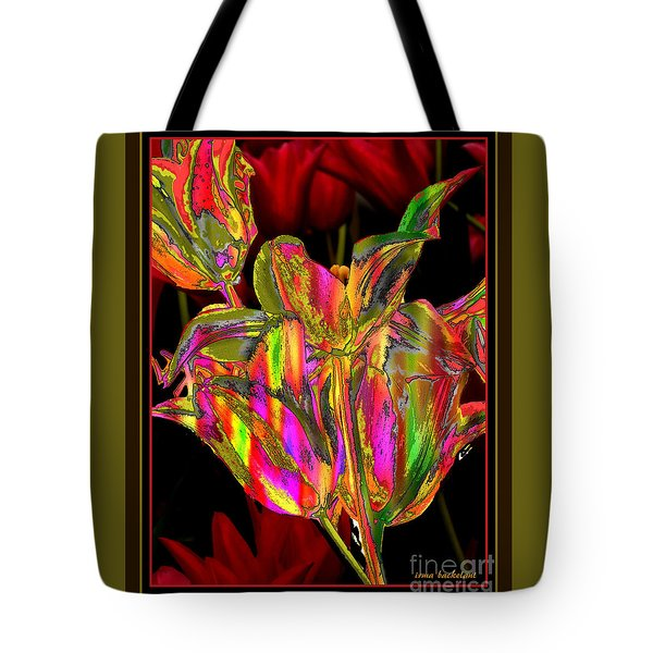Painted Tulips Tote Bag by Irma BACKELANT GALLERIES