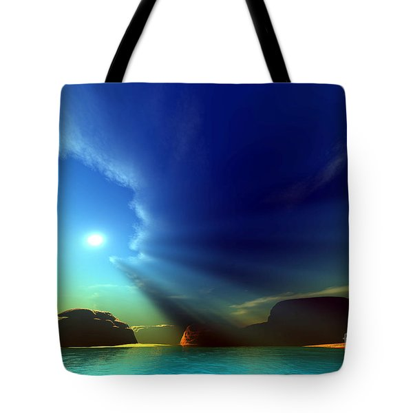 Painted Veil Tote Bag by Corey Ford