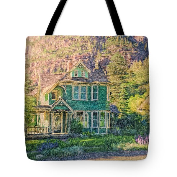 Painted Victorian Tote Bag