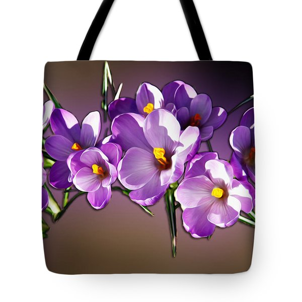 Tote Bag featuring the photograph Painted Violets by John Haldane