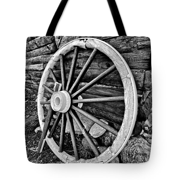 Painted Wagon Tote Bag by Ed Boudreau