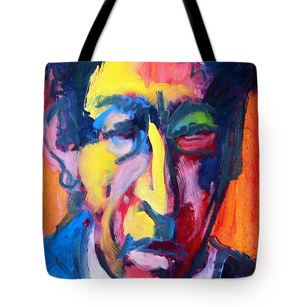 Tote Bag featuring the painting Painter Or Poet? by Les Leffingwell
