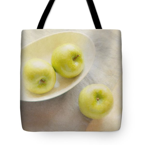 Painterly Apples Tote Bag