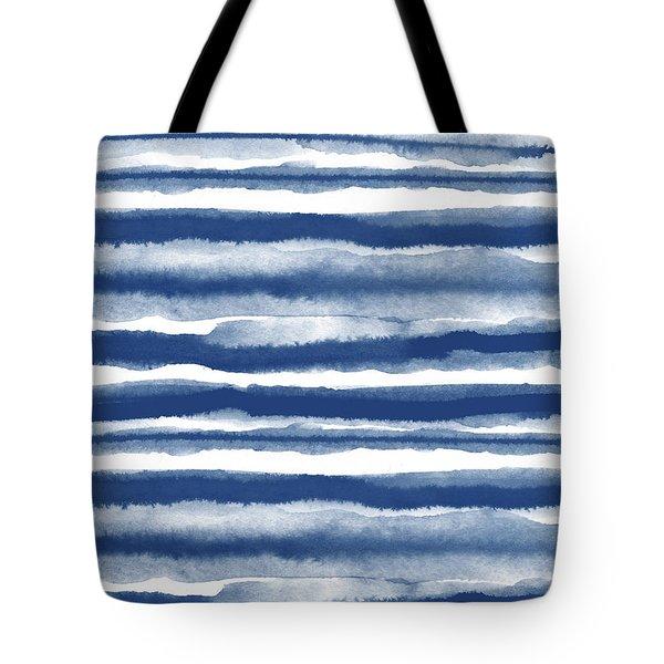 Painterly Beach Stripe 3- Art By Linda Woods Tote Bag