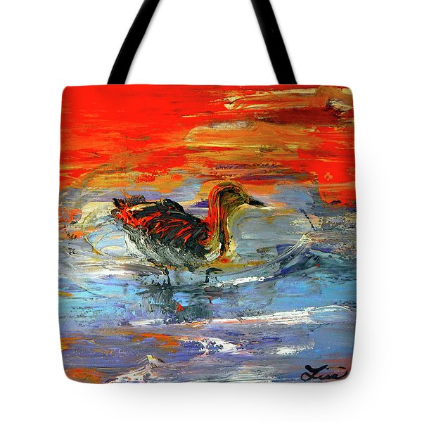 Painterly Escape II Tote Bag