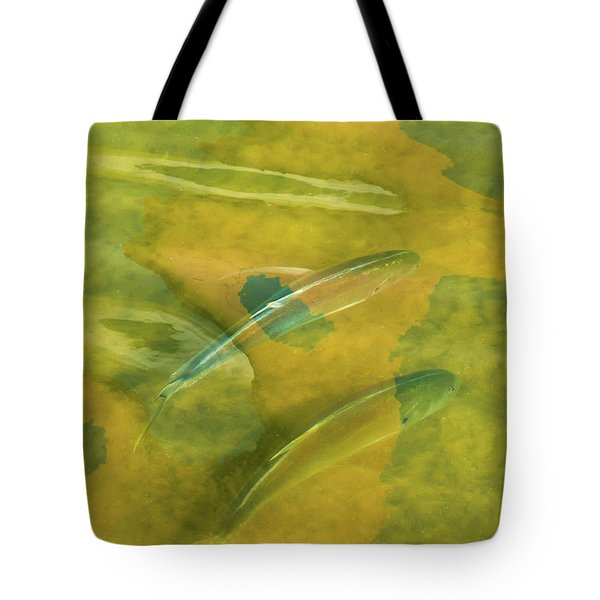 Painterly Fish Tote Bag by Carolyn Dalessandro