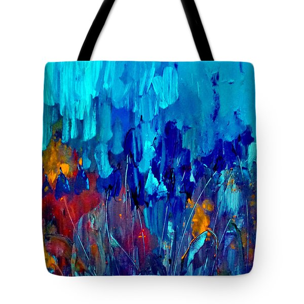 Painterly Garden Flowers Tote Bag