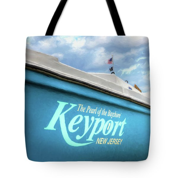 Tote Bag featuring the photograph Painterly Keyport Sailboat by Gary Slawsky
