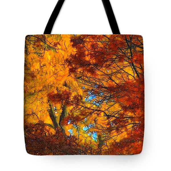 Painterly Tote Bag by Lyle Hatch