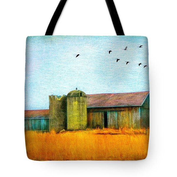 Painterly Neon Colored Rural Barn Tote Bag