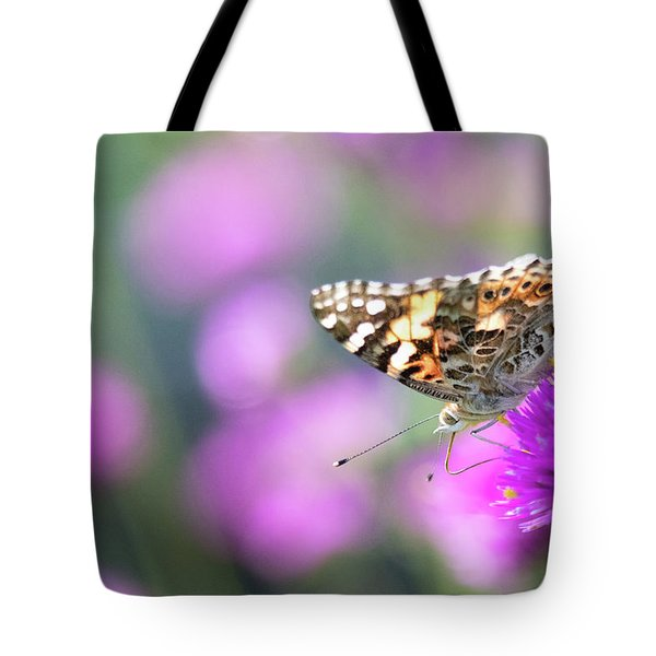 Tote Bag featuring the photograph Painterly Painted Lady 2 by Brian Hale