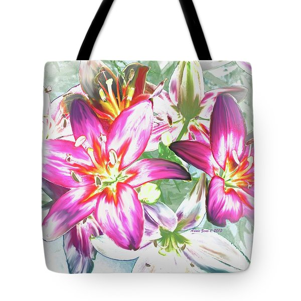 Painterly Pink Tiger Lilies Tote Bag