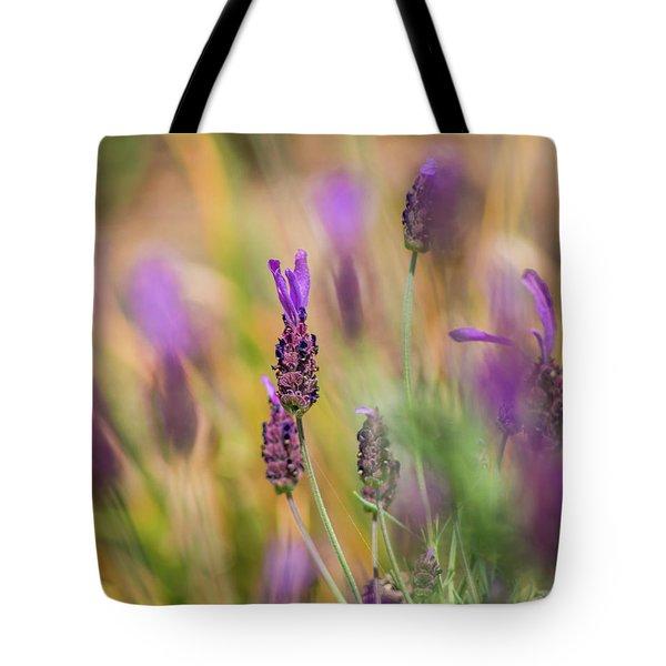 Painterly Purple Tote Bag by Lynne Jenkins